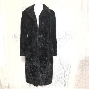 Black Fuzzy extra long jacket